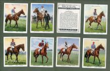 Tobacco cigarette cards set Racehorses & Jockeys 1938